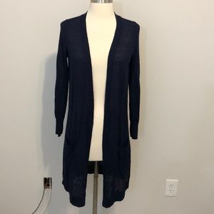 Halogen Linen Blend Cardigan Size XS Blue